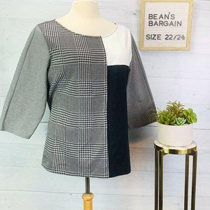 ❣️FREE SHIP❣️ Lane Bryant Top Houndstooth 22/24